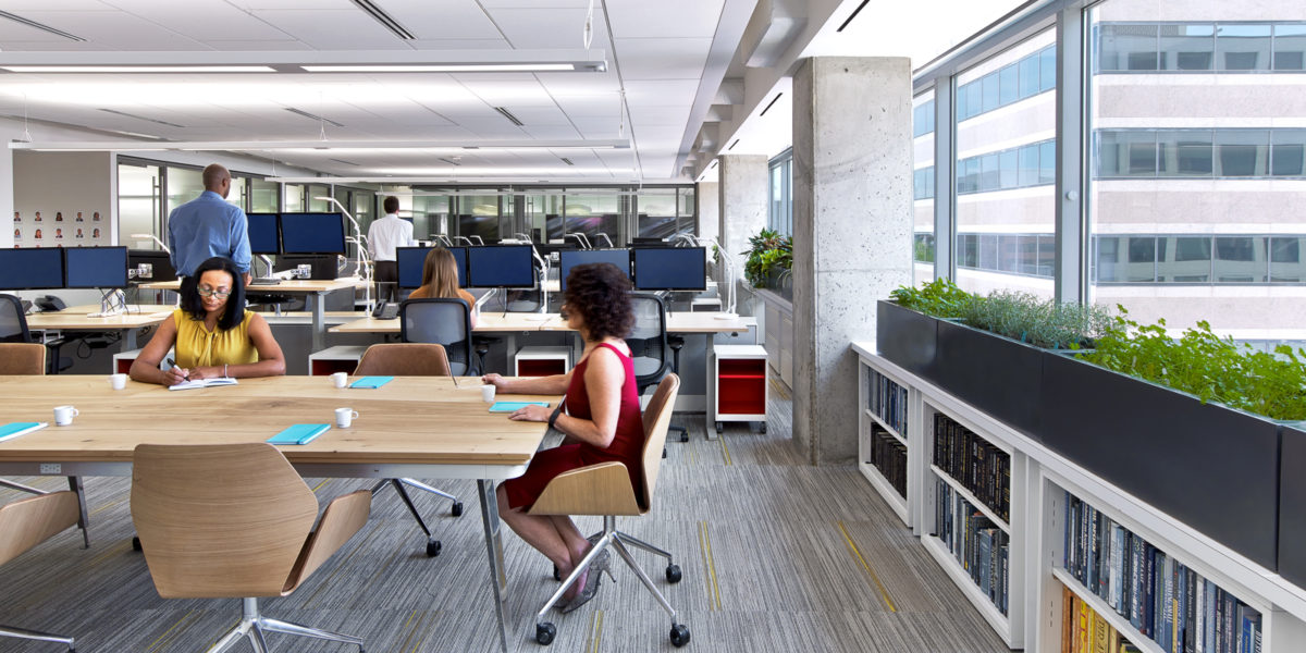 Open collaborative workspace, ASID DC HQ