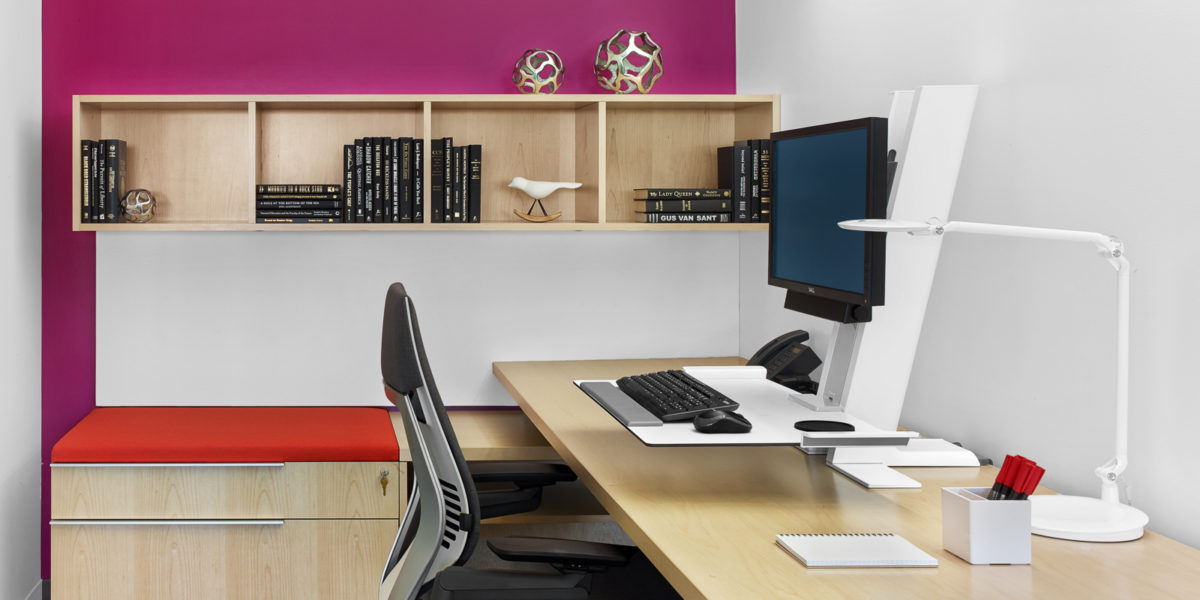 Sit/stand flex workstations, ASID DC HQ